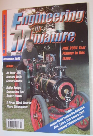 Image for Engineering in Miniature - The Magazine for Model Engineers: December 2003