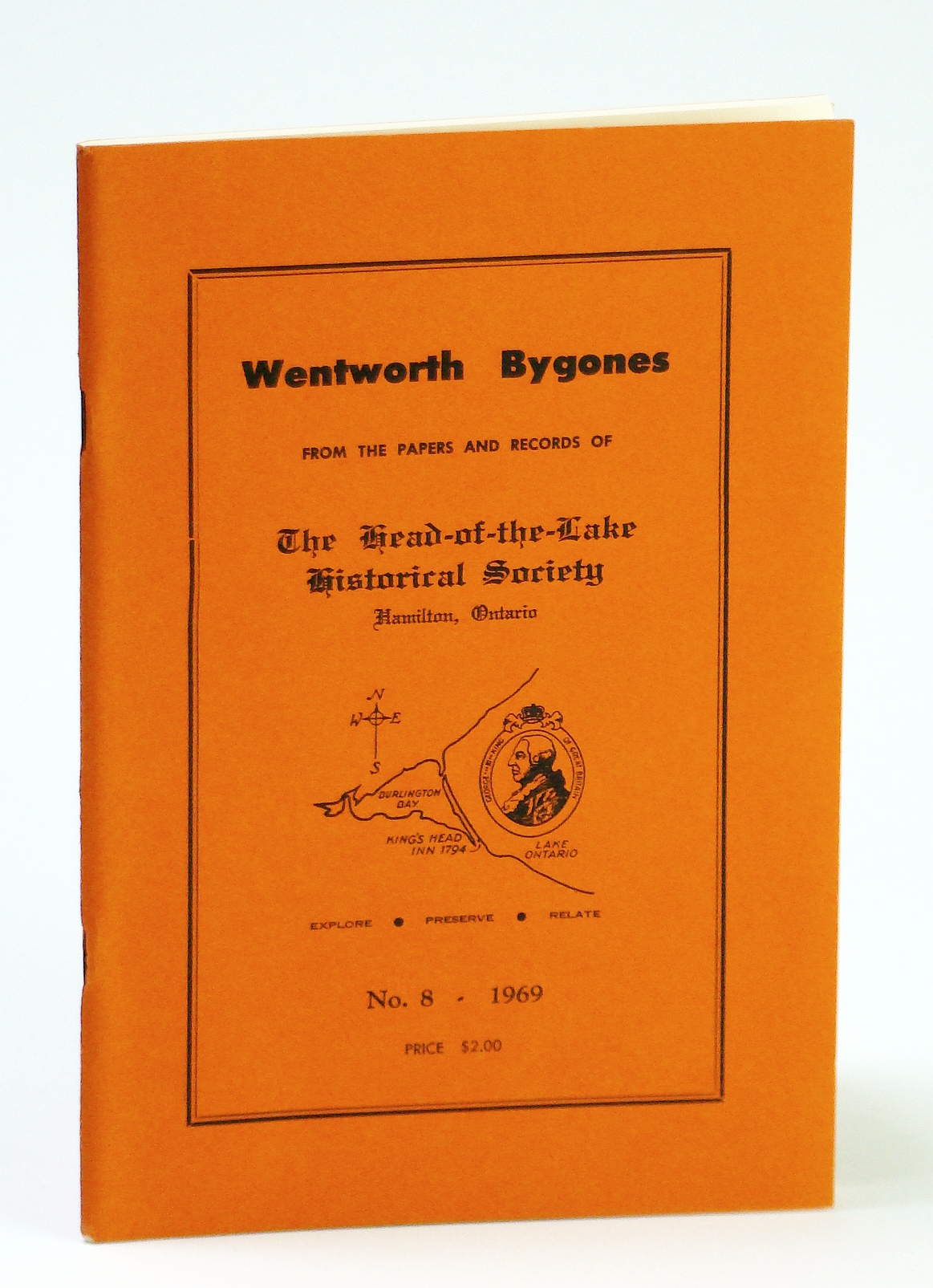 Image for Wentworth Bygones: From the Papers and Records of The Head-of-the-Lake Historical Society, No. 8 (Eight) 1969