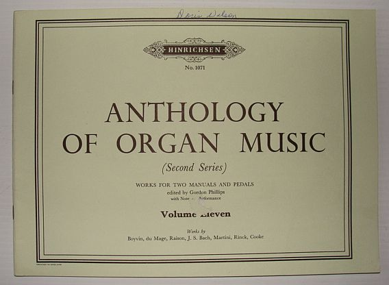 Image for Anthology of Organ Music (Second Series): Volume Eleven (11), No. 1071 - Works for Two Manuals and Pedals