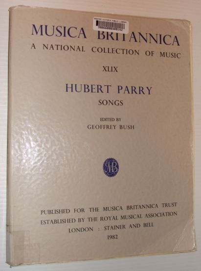 Image for Songs (MUSICA BRITANNICA) (v. 49)