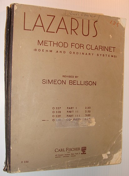 Image for Lazarus Method for Clarinet (Boehm and Ordinary Systems) COMPLETE - Includes Parts I, II  and III