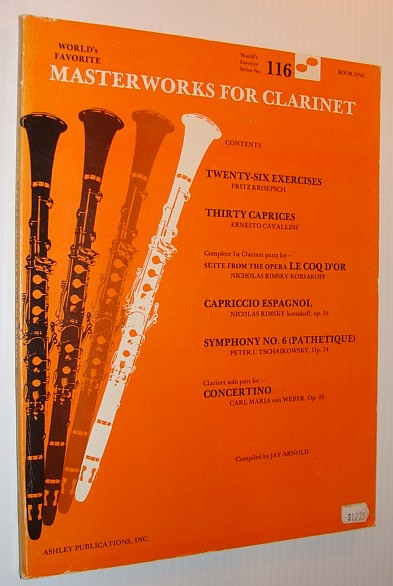 Image for World's Favorite Masterworks for Clarinet, Book One - (World's Favorite Series No. 116)