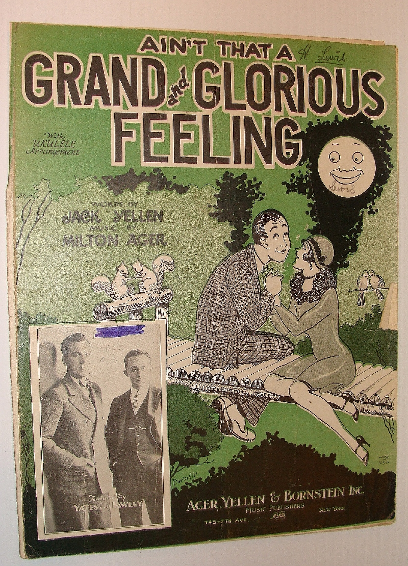 Image for Ain't That a Grand and Glorious Feeling? - Sheet Music with Vocals and Ukulele Chords