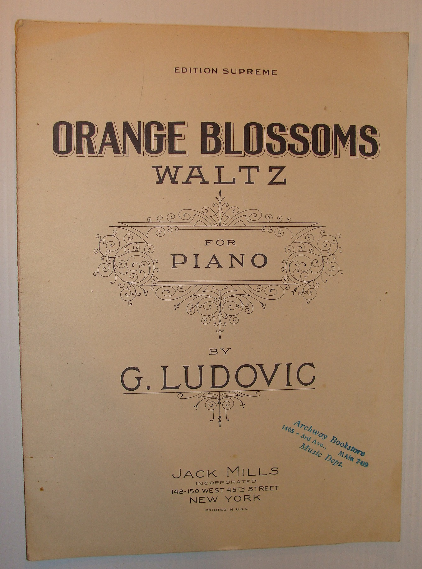 Image for Orange Blossoms Waltz: Sheet Music for Piano