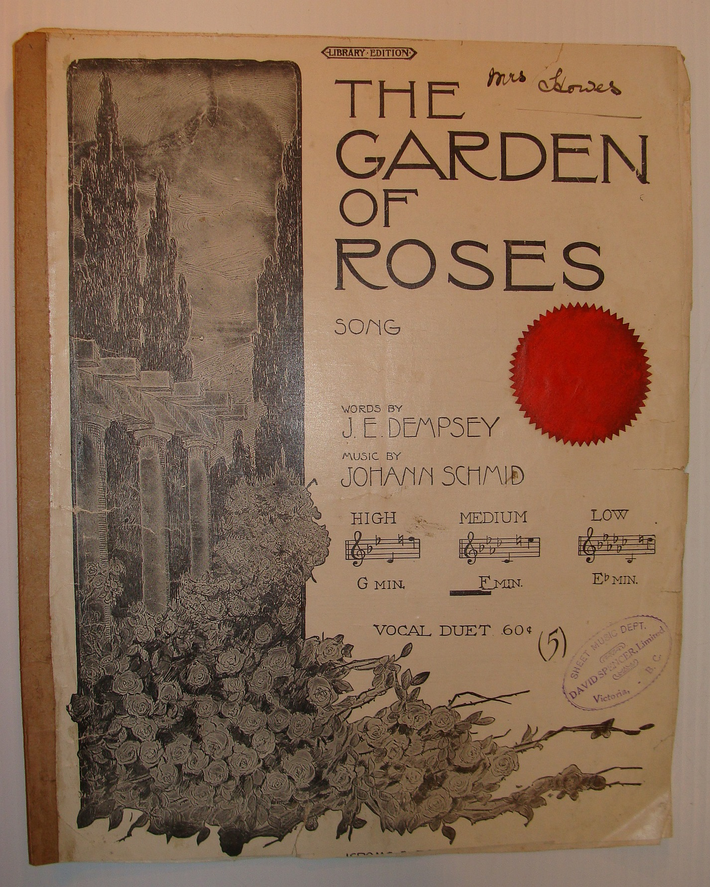 Image for The Garden of Roses Song - Vocal Duet Sheet Music