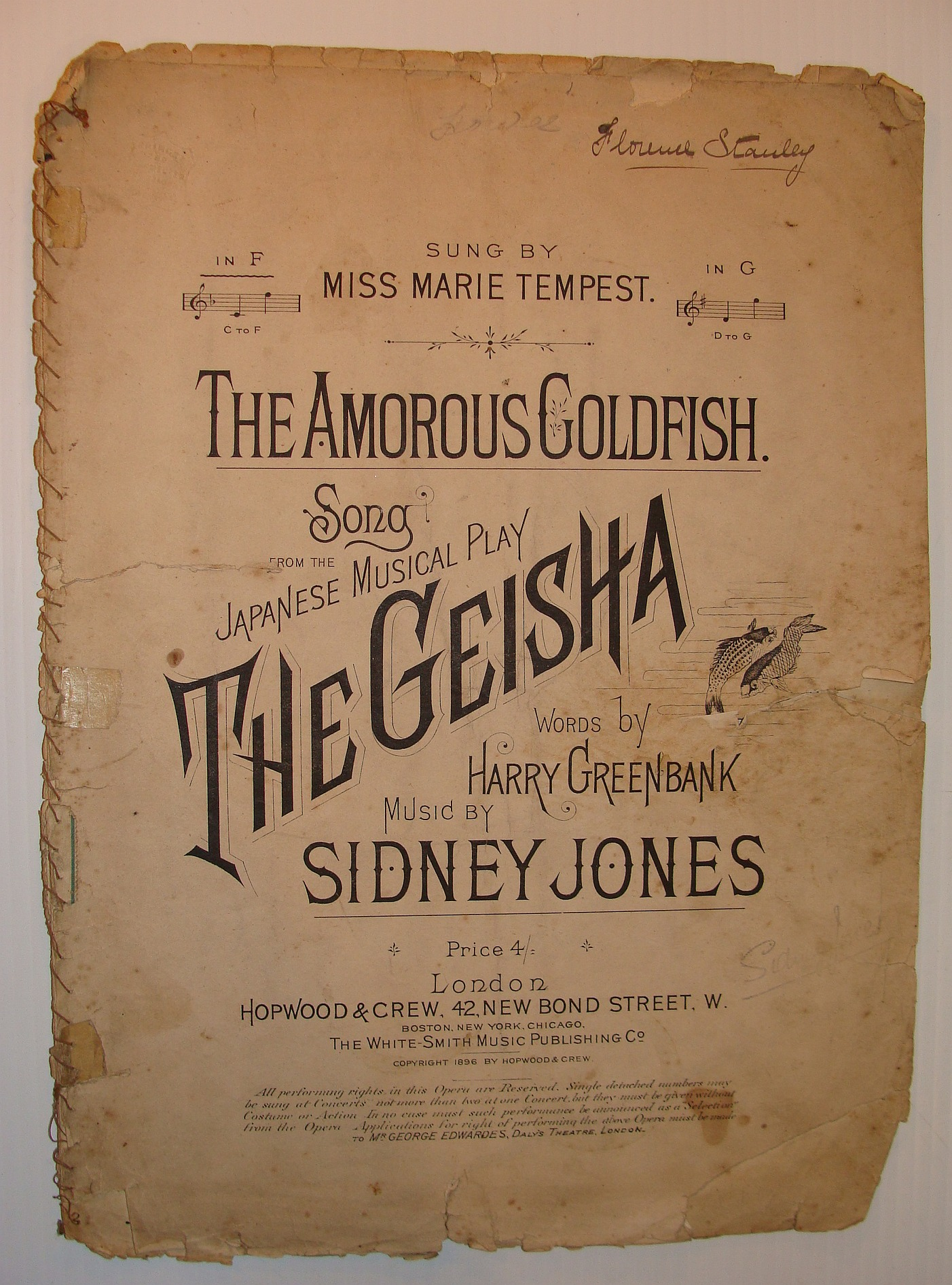 Image for The Amorous Goldfish: Sheet Music for Voice and Piano