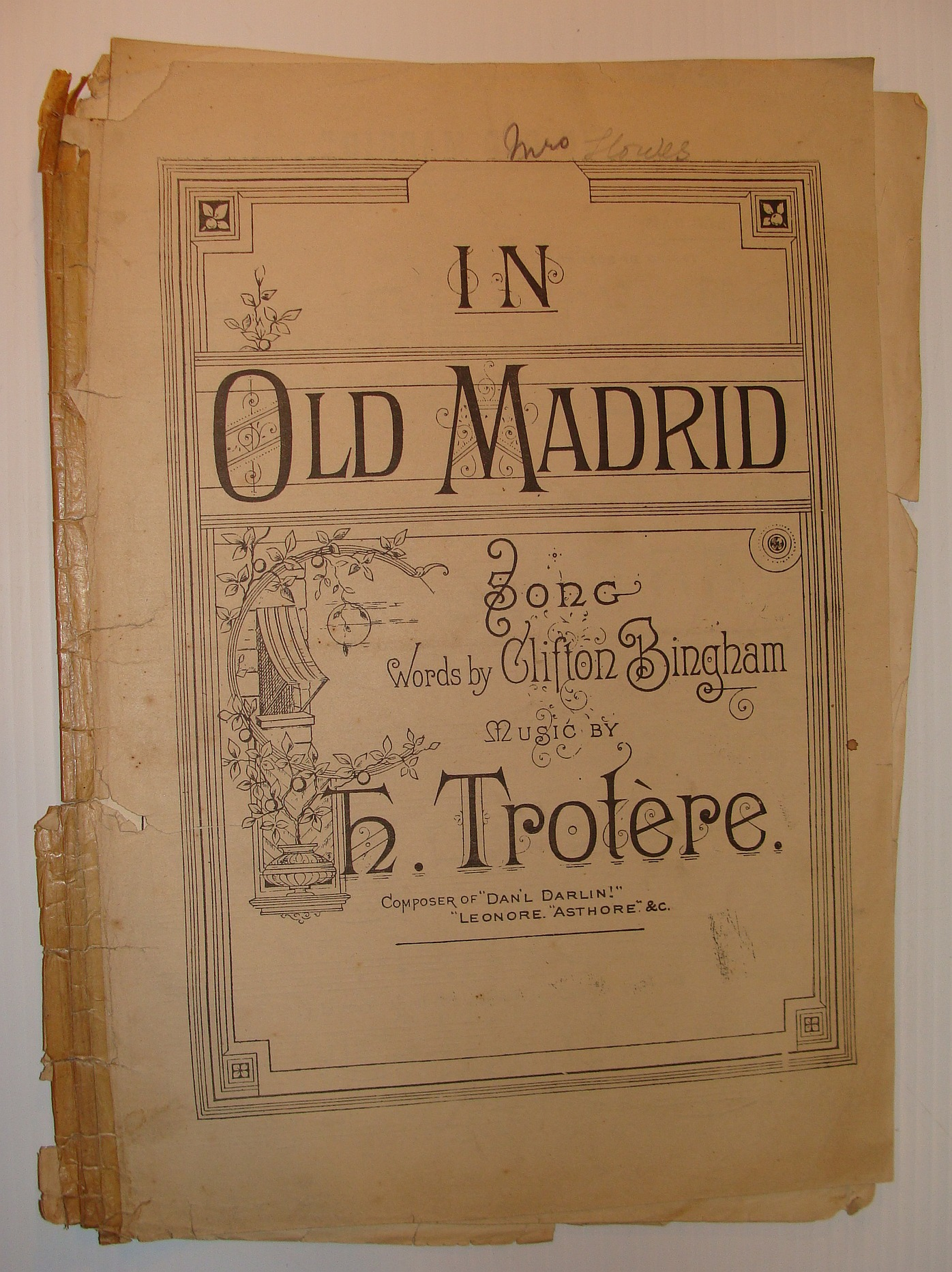 Image for In Old Madrid: Sheet Music