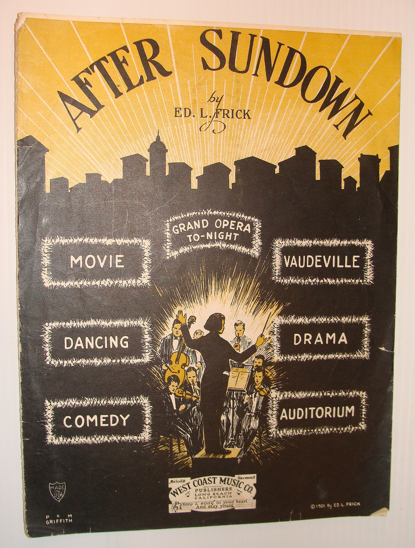 Image for After Sundown - Sheet Music