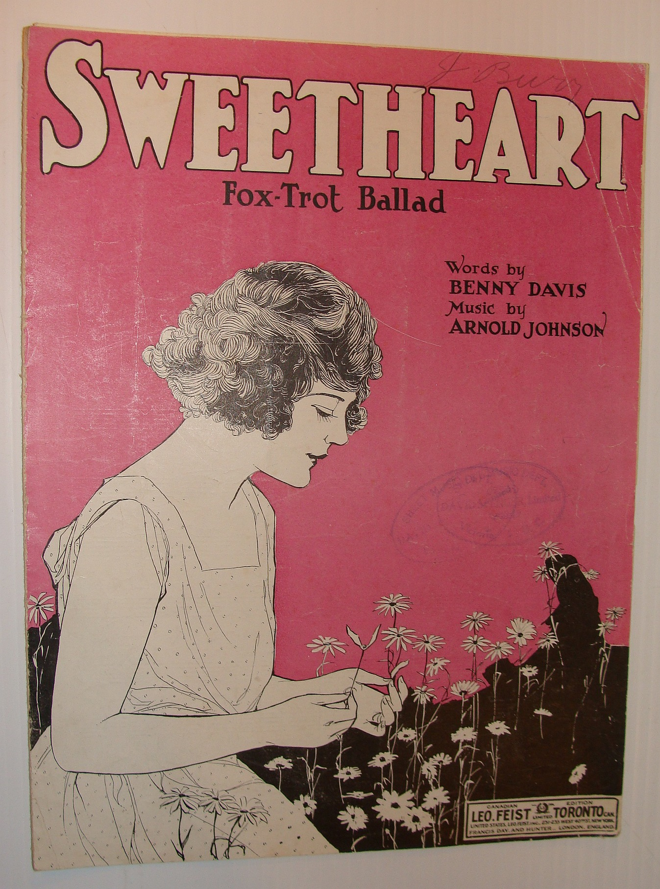 Image for Sweetheart - Fox-Trot Ballad: Sheet Music