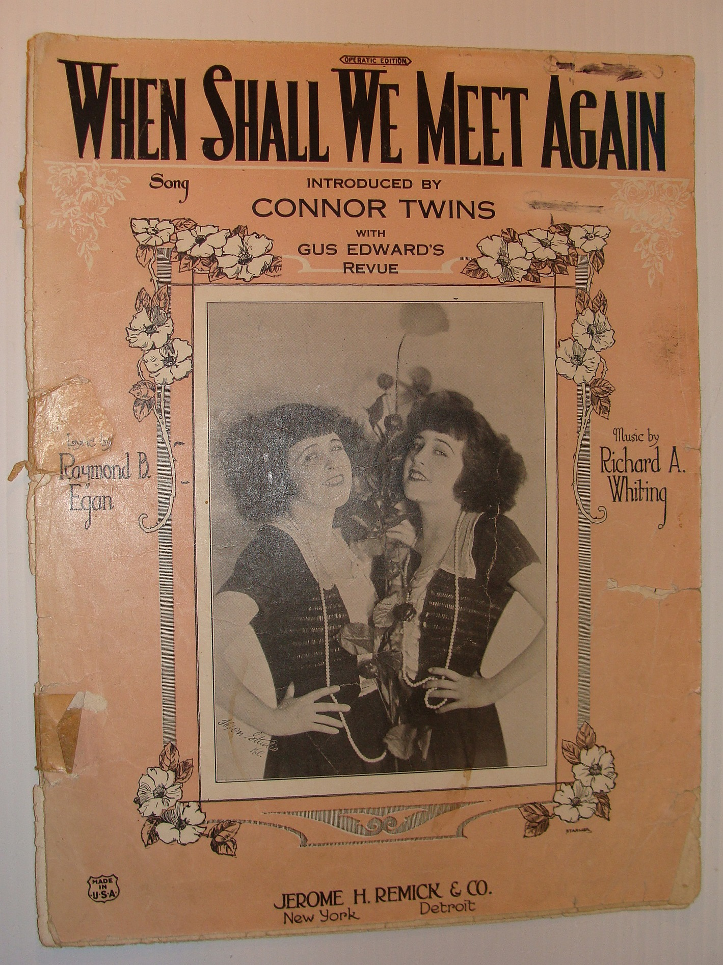 Image for When Shall We Meet Again: Sheet Music