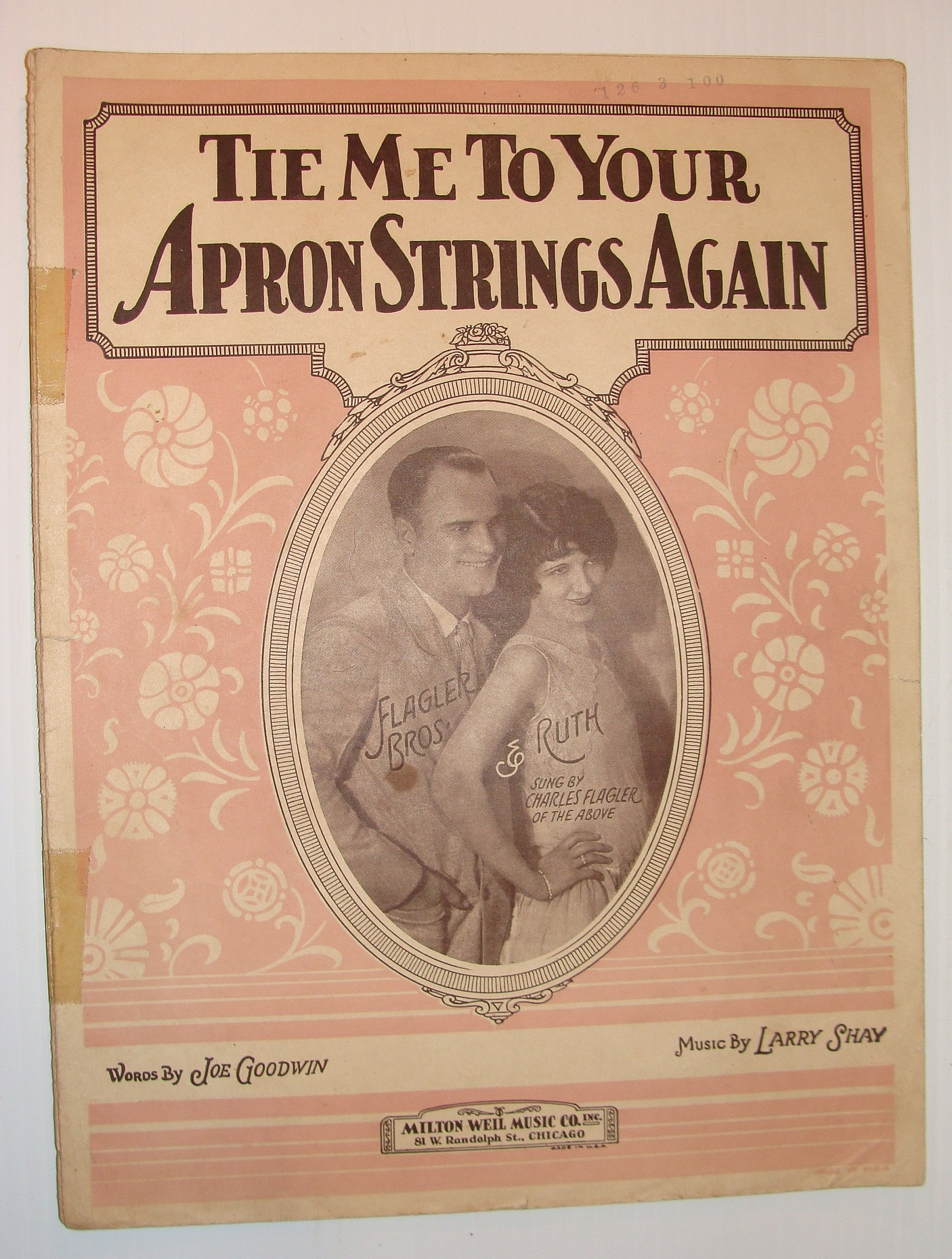 Image for Tie Me To Your Apron Strings Again: Sheet Music for Piano, Ukulele and Vocal