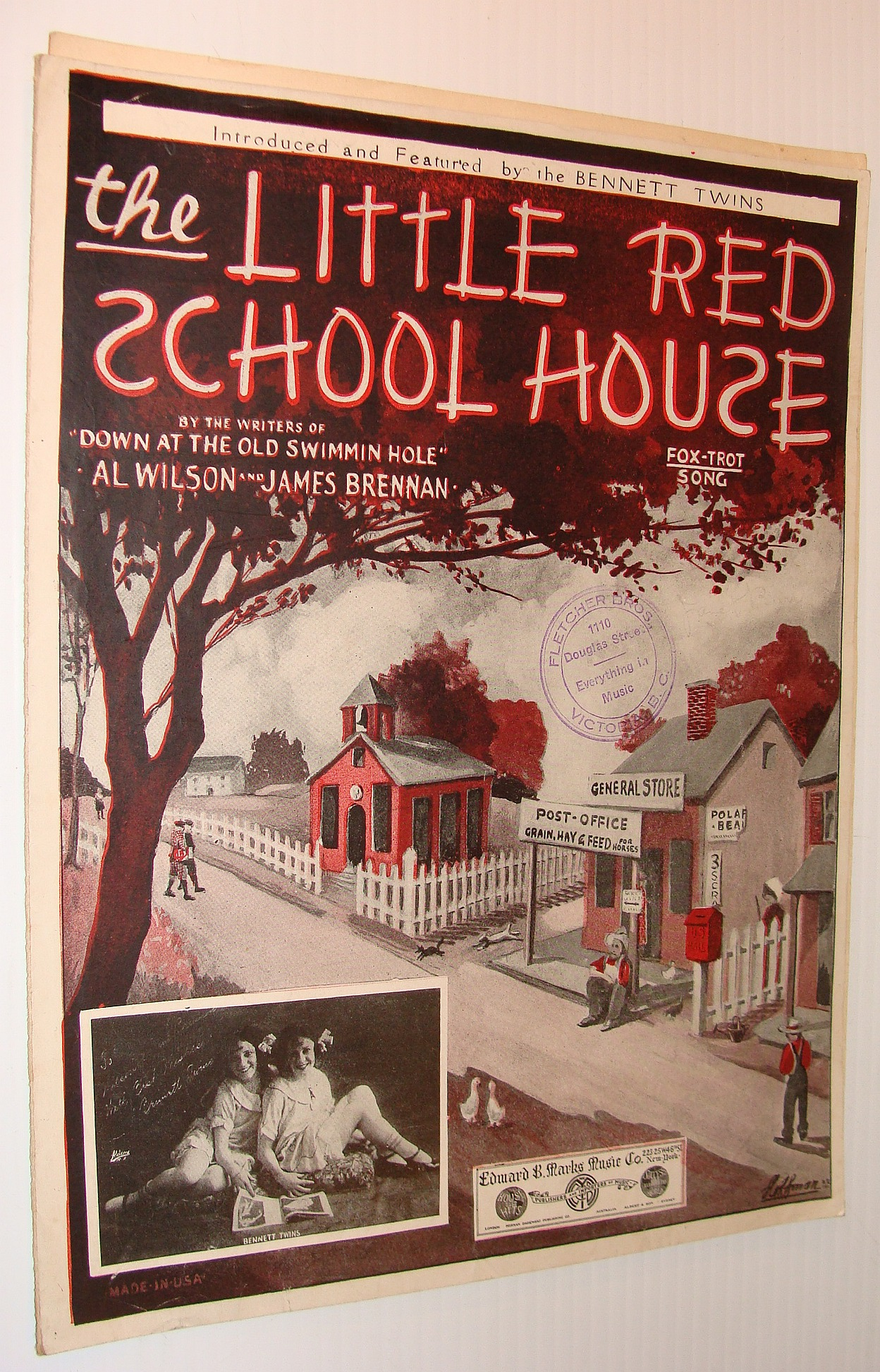 Image for The Little Red School House - Fox-Trot Song: Sheet Music for Voice and Piano