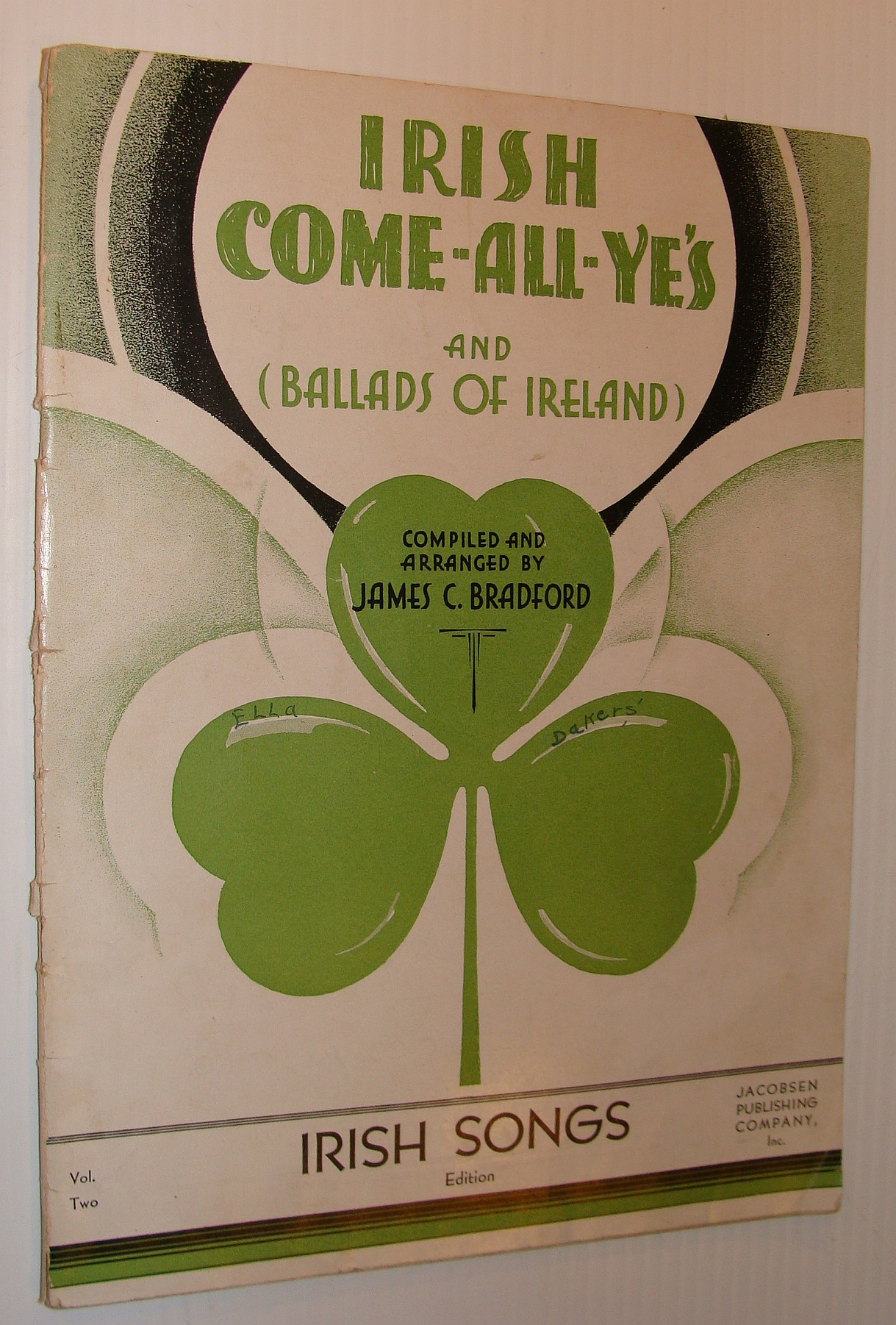 Image for Irish Come-All-Ye's: A Collection of Popular Song Classics - Sheet Music with Lyrics