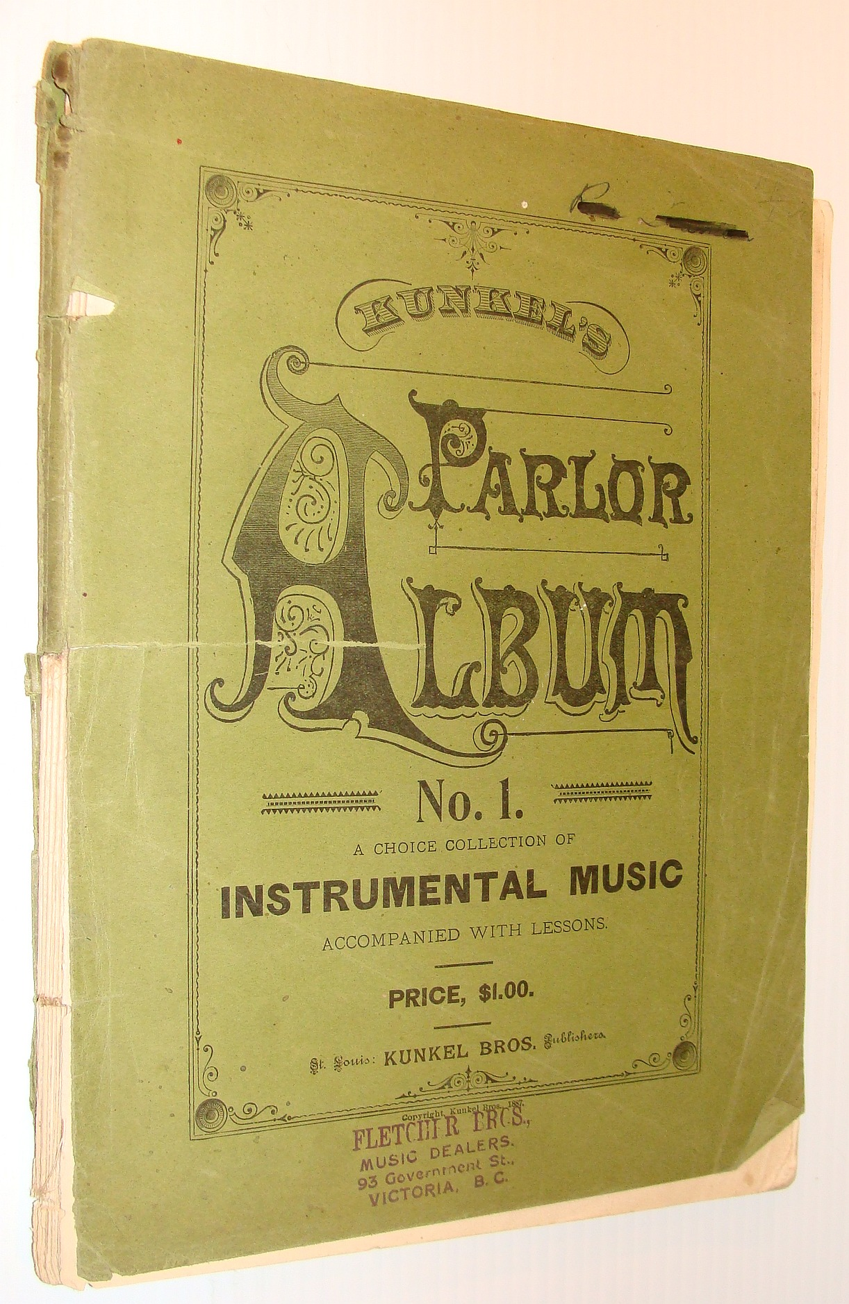 Image for Kunkel's Parlor Album No. 1: A Choice Collection of Instrumental Music, Accompanied with Lessons