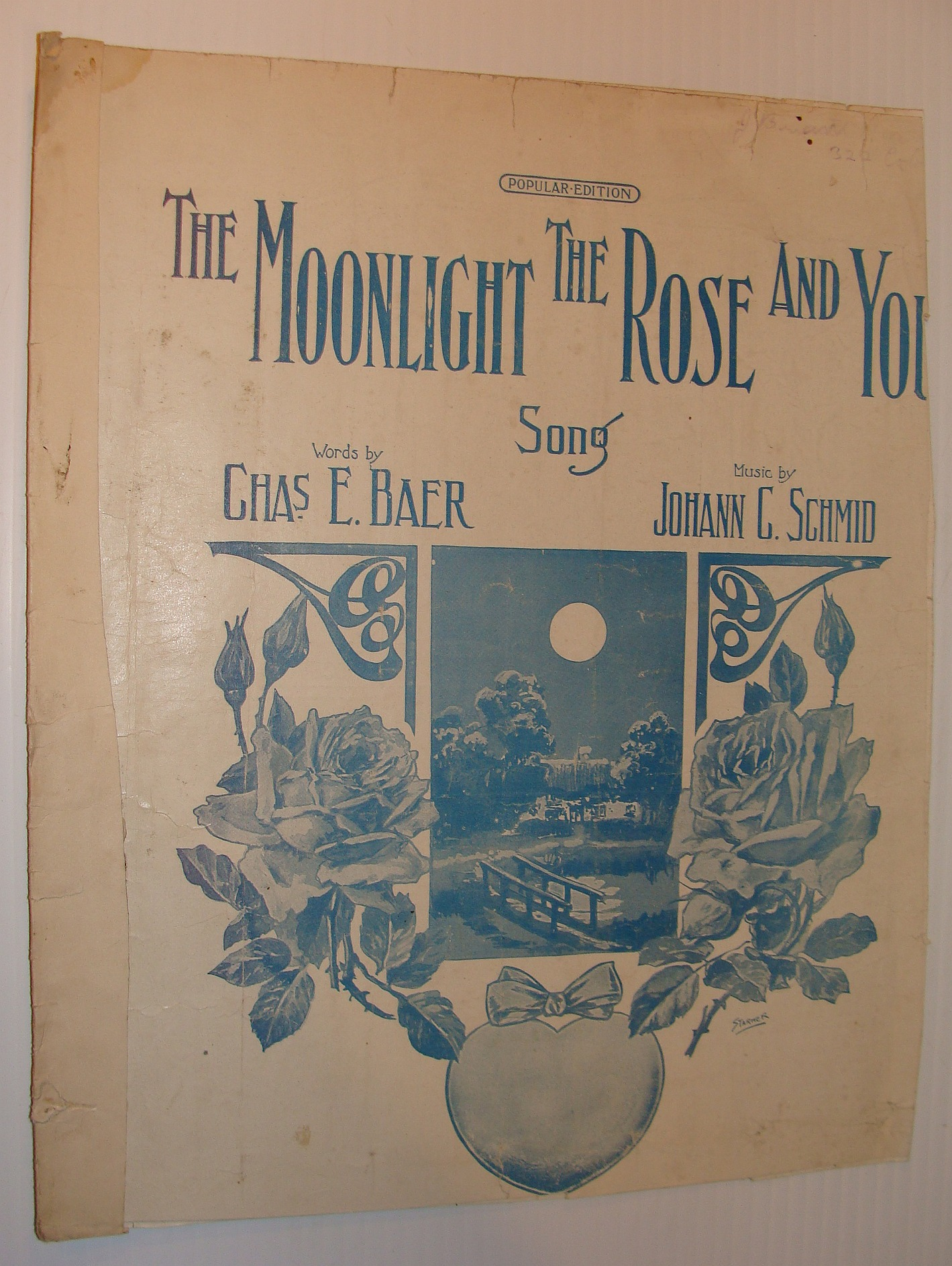 Image for The Moonlight the Rose and You - Sheet Music