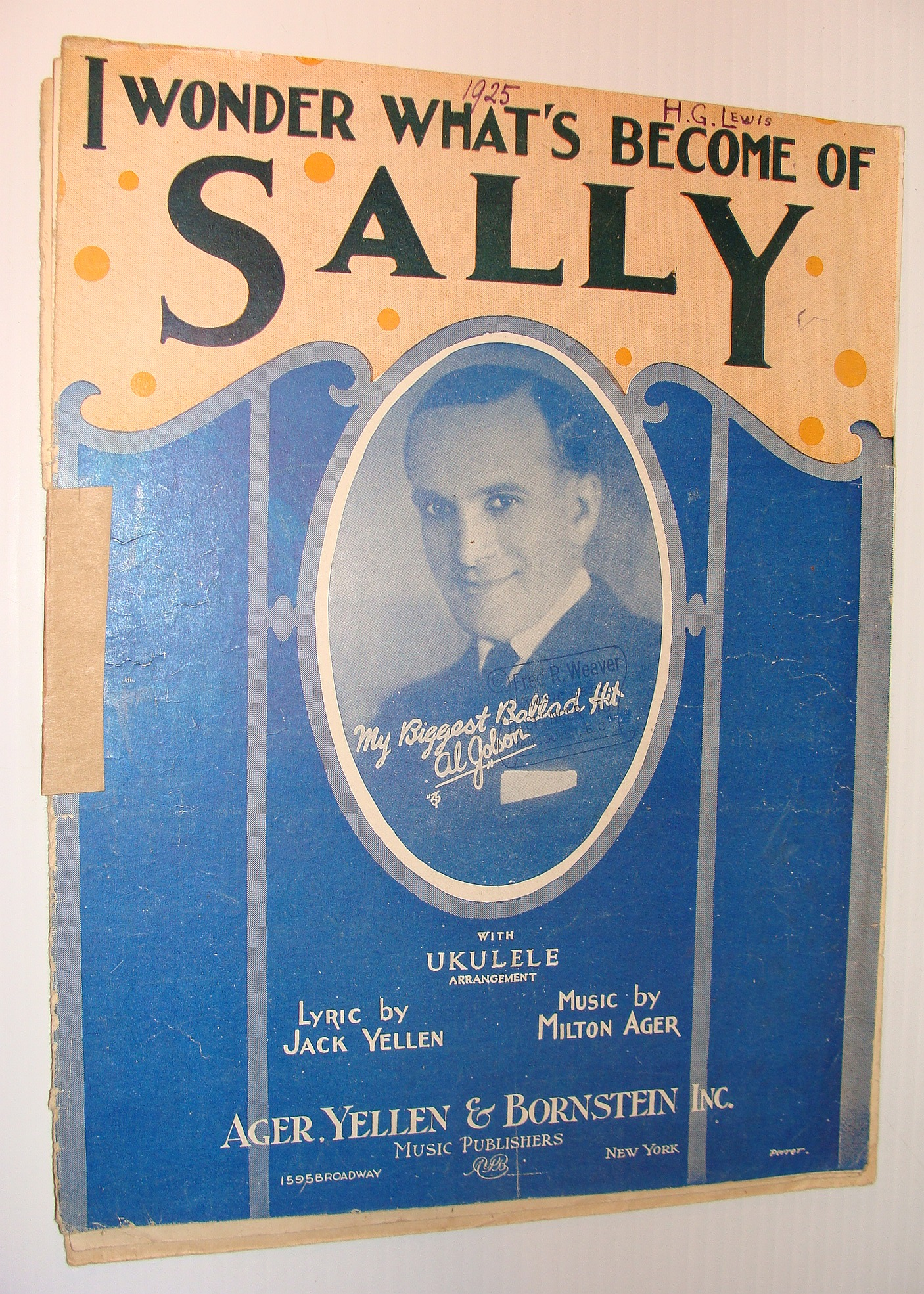 Image for I Wonder What's Become of Sally? - Sheet Music with Ukulele Arrangement