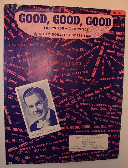 Image for Good, Good, Good - (That's You - That's You): Sheet Music for Voice and Piano
