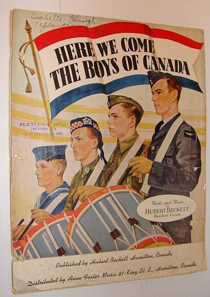 Image for Here We Come the Boys of Canada: Sheet Music for Piano and Voice