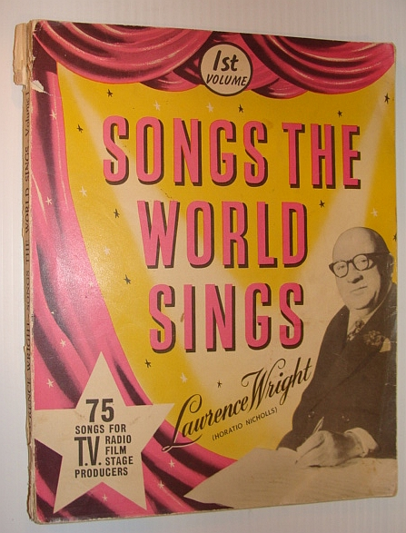 Image for Songs the World Sings 1st (First) Volume - 75 Songs for T.V., Radio, Film, Stage Producers