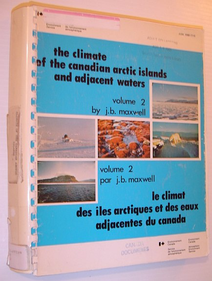 Image for The Climate of the Canadian Arctic Islands and Adjacent Waters - Volume 2