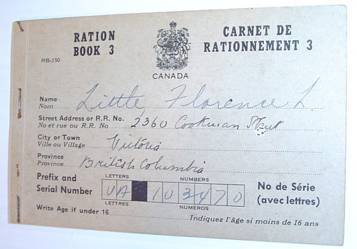 Image for Ration Book 3 / Carnet De Rationnement 3: World War II Canadian Food Ration Book
