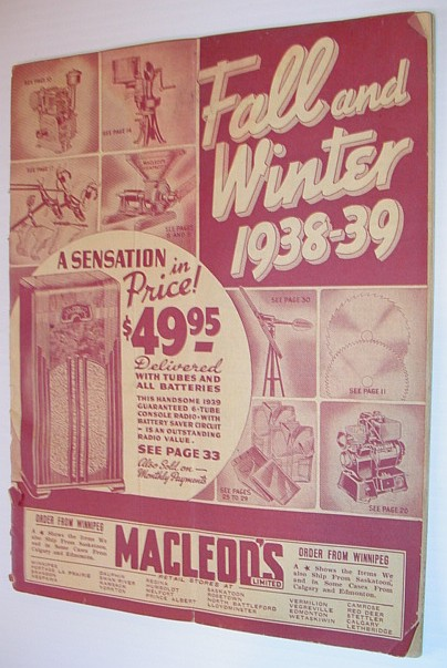 Image for Macleod's Fall and Winter 1938-39 Catalogue