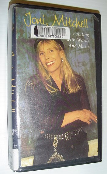 Image for Joni Mitchell: Painting With Words and Music *99 Minute VHS Videotape with case*