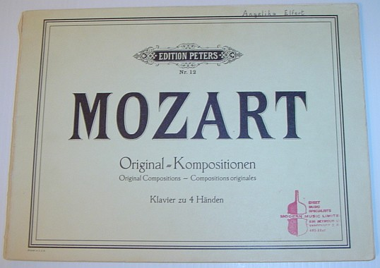 Image for Mozart Original Kompositionen - Editions Peters Nr. 12