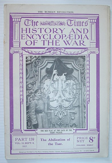 Image for The Times History and Encyclopaedia of the War - Part 159, September (Sept.) 4, 1917