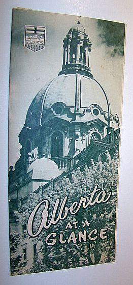 Image for Alberta at a Glance: Promotional Fold-out Brochure