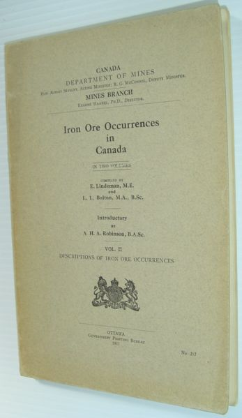 Image for Iron Ore Occurrences in Canada - Volume II - Description of Iron Ore Occurrences