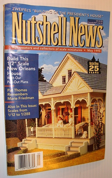 "Image for Nutshell News Magazine - For Creators and Collectors of Scale Miniatures, May 1995 - 1/2"" Scale New Orleans House"