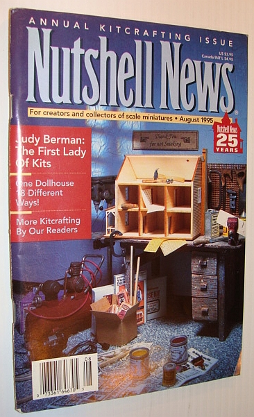 Image for Nutshell News Magazine - For Creators and Collectors of Scale Miniatures, August 1995 - Annual Kitcrafting Issue