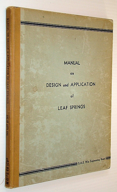 Image for Manual on Design and Application of Leaf Spring