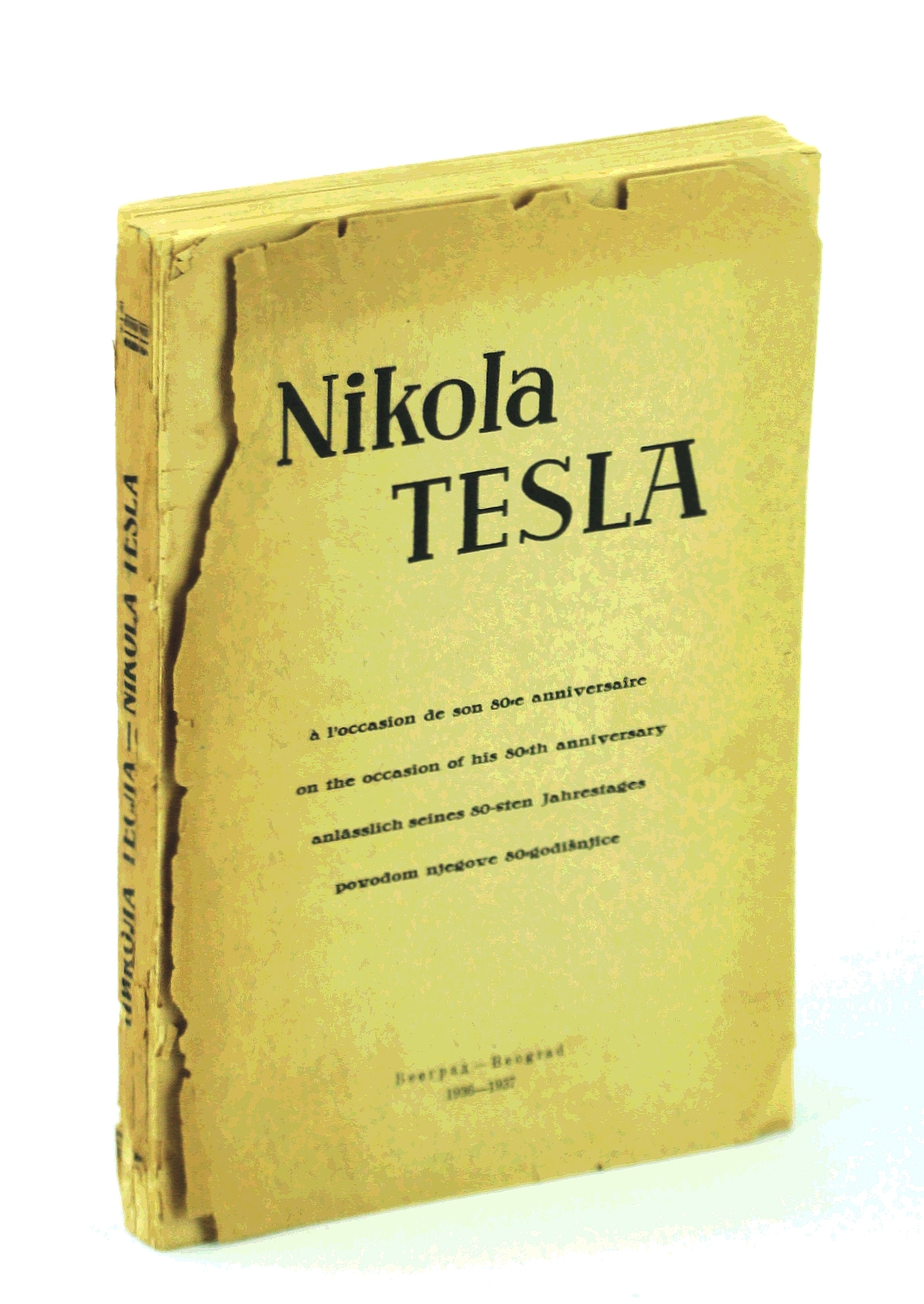 Image for Nikola Tesla - Memorandum Book on the Occasion of His 80th Birthday