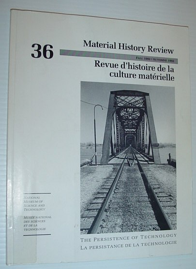Image for Material History Review -  Number 36, Fall 1992