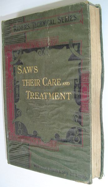 Image for Saws: Their Care and Treatment - Rider's Technical Series