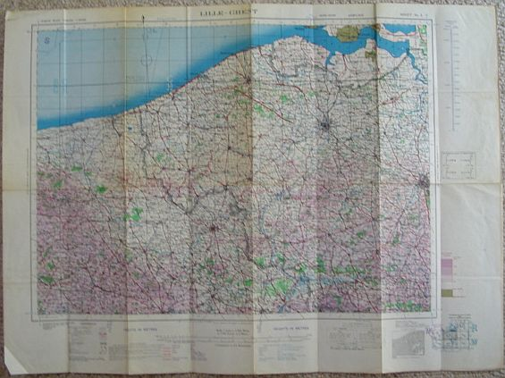 Image for Lille-Ghent British Military Map - Second Edition, June 1944 - Sheet No. 2