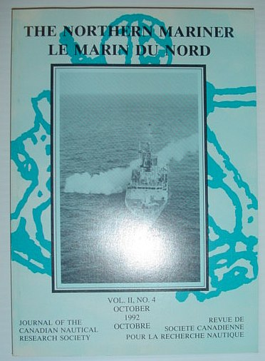 Image for The Northern Mariner: Journal of the Canadian Nautical Research Society - October 1992