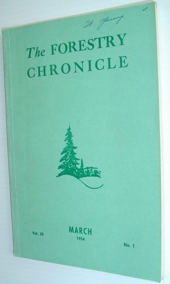 Image for The Forestry Chronicle - March 1954