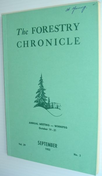 Image for The Forestry Chronicle - September 1953