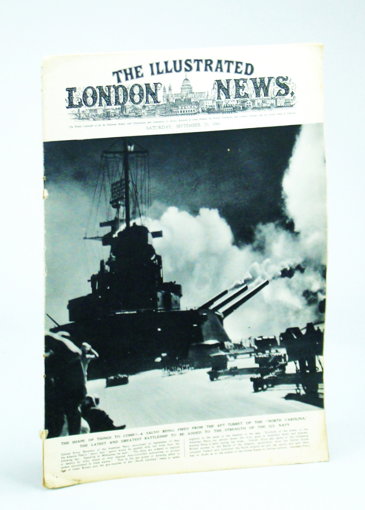 Image for The Illustrated London News, Saturday, September [Sept.] 20, 1941 -  Titanic Struggle on the Russian Front