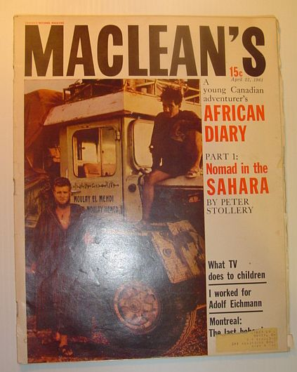 Image for Maclean's Magazine, April 22, 1961