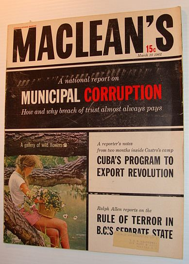 Image for Maclean's Magazine, March 10, 1962 - Special Municipal Corruption Issue