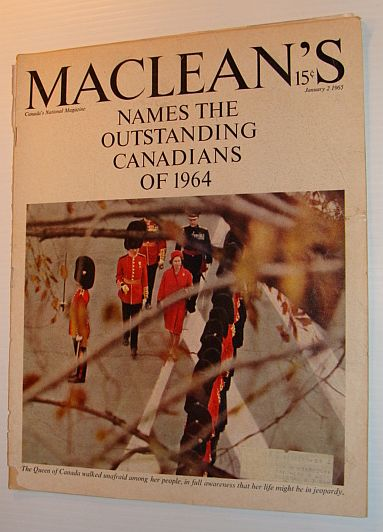 Image for Maclean's Magazine, January 2, 1965 *THE OUTSTANDING CANADIANS OF 1964*