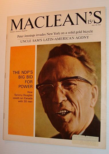 Image for Maclean's Magazine, July 24, 1965 *COVER PHOTO OF TOMMY DOUGLAS*