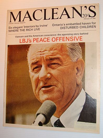 Image for Maclean's Magazine, February 19, 1966 - LBJ's Peace Offensive