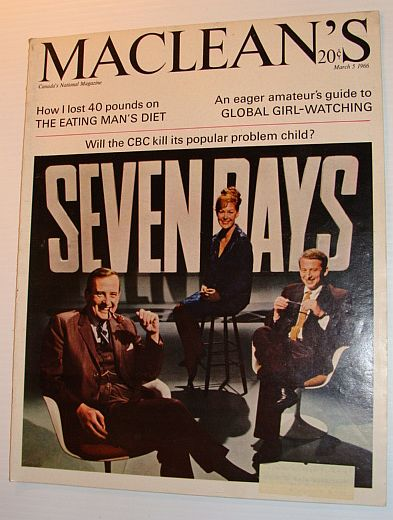 Image for Maclean's Magazine, March 5, 1966 *THIS HOUR HAS SEVEN DAYS*