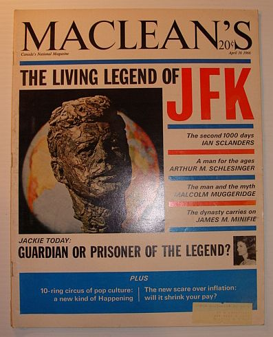 Image for Maclean's Magazine, April 16, 1966 *THE LIVING LEGEND OF JFK*