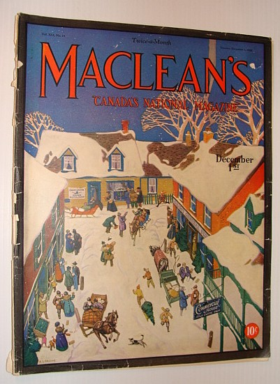 Image for Maclean's - Canada's National Magazine, December 1, 1928 *A.J. Casson Cover Art*